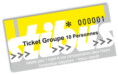 ticket groupe